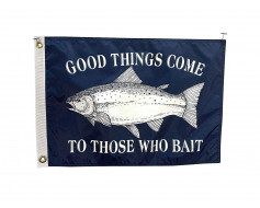 Good things Come Boat Flag-12x18""