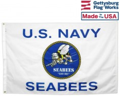 US Navy Seabees Flag - 3x5'