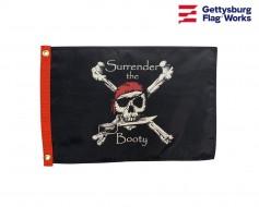 Surrender The Booty Flag-Black