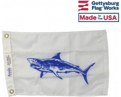 Mako Shark Flag - 12x18""