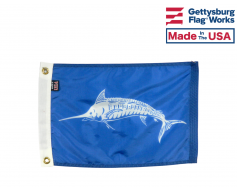 White Marlin Flag - 12x18""