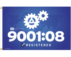 ISO 9001:2008 Quality Mgmt Flag