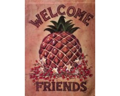 Welcome Friends Pineapple Garden Flag