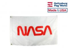 NASA Logo Flag - Worm