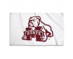 Mississippi State Bulldogs Outdoor Flag - White
