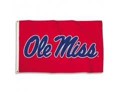 Ole Miss Outdoor Flag - Red
