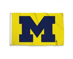 Michigan Wolverines Outdoor Flag - Maize