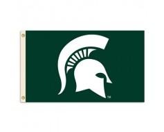 MSU Spartans Outdoor Flag - Helmet