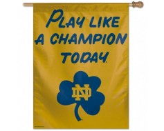 "Notre Dame ""Play Like A Champion"" House Banner"