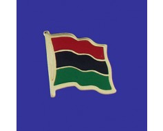 Afro-American Lapel Pin (Single Waving Flag)