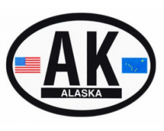 Alaska Oval Sticker