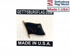 Alaska State Flag Lapel Pin (Single Waving Flag)