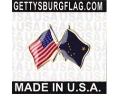 Alaska State Flag Lapel Pin (with US Flag)