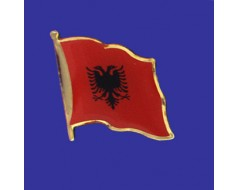 Albania Lapel Pin (Single Waving Flag)