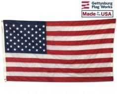 American Flag, Nylon, Grommets - 5x9.5'