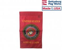 Marine Corps Emblem Garden Flag