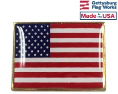 American Flag Lapel Pin (Single Rectangle Flag)