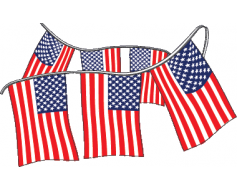 American Flag Rectangle Pennants