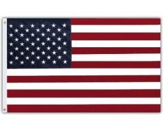 """American Flag, Nylon, Grommets - 16x24"""""""
