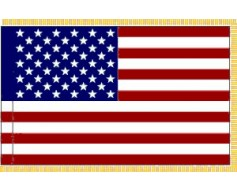 American Indoor Flag, Nylon Signature Series, Fringed - 3x5'