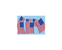 American Flag Rectangle Pennants