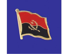 Angola Lapel Pin (Single Waving Flag)