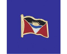 Antigua & Barbuda Lapel Pin (Single Waving Flag)