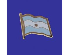Argentina (seal design) Lapel Pin (Single Waving Flag)