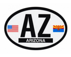 Arizona Oval Sticker