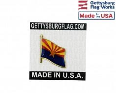 Arizona State Flag Lapel Pin (Single Waving Flag)