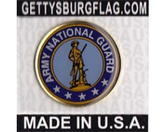 Army National Guard Seal Lapel Pin (Round Emblem Design)