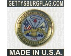 Army Seal Lapel Pin (Round Emblem Design)