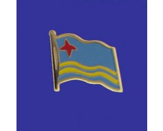 Aruba Lapel Pin (Single Waving Flag)