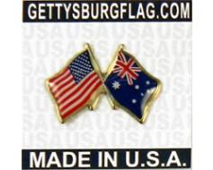 Australia Lapel Pin (with US Flag)