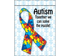 Autism Solve The Puzzle Garden Flag
