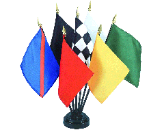 Auto Racing Stick Flag Set