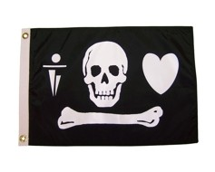 Stede Bonnet Pirate Flag - 12x18""