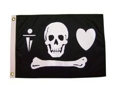 "Stede Bonnet Pirate Flag - 12x18"""