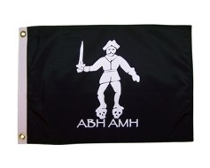 Black Bart Pirate Flag - 12x18""