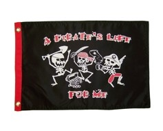 "A Pirates Life For Me Flag - 12x18"""