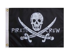 Pirate Crew Flag - 12x18""