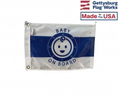 Baby on Board Boat Flag