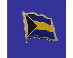 Bahamas Lapel Pin (Single Waving Flag)