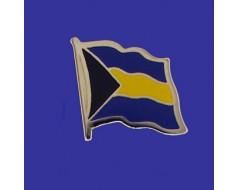 Bahamas Lapel Pin (Single Waving Flag)