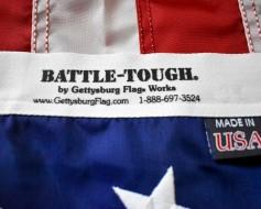 American Flag, Nylon Battle-Tough, Grommets - 5x9.5'