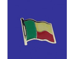 Benin Lapel Pin (Single Waving Flag)