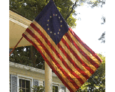 Betsy Ross Banner (Tea-Stained) - 2.5x4'