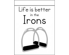 Life Is Better In The Irons Flag