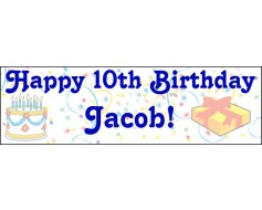 Happy Birthday Banner with Age & Name