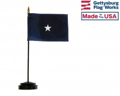 Navy Commodore Stick Flag - 4x6""